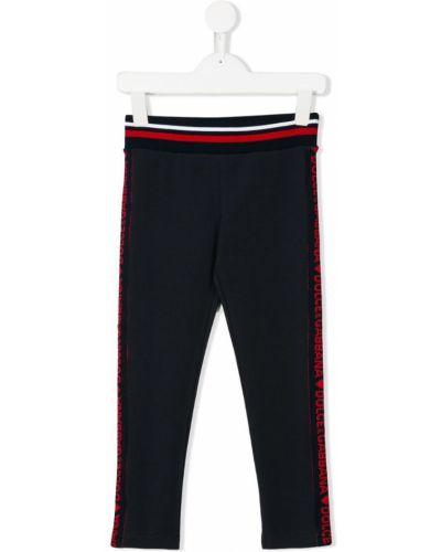 Леггинсы с поясом эластичный Dolce & Gabbana Kids