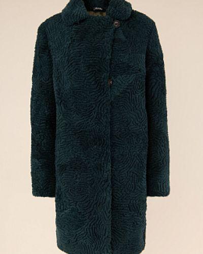 Пальто из овчины - зеленое Janifer