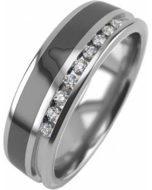 Кольцо из серебра черный Graf кольцов