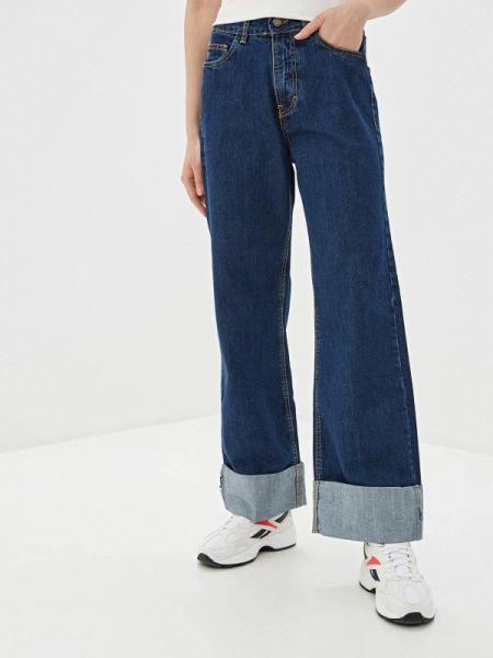 Широкие джинсы расклешенные синие J.b4
