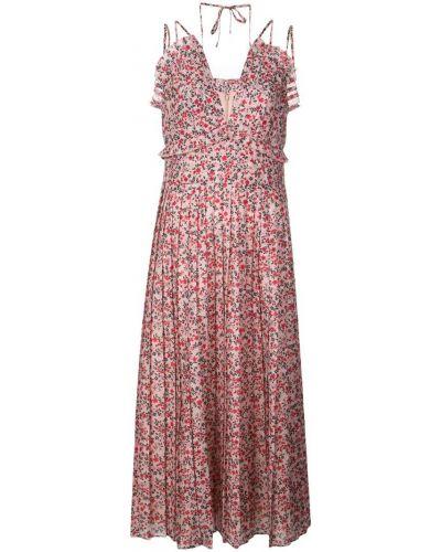 Плиссированное розовое платье на молнии Robert Rodriguez Studio