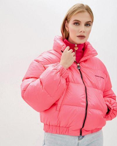 Розовая зимняя куртка Chiara Ferragni Collection