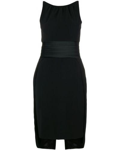 Платье миди с открытой спиной шифт Moschino
