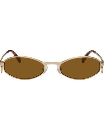 Okulary srebrne - żółte Marine Serre