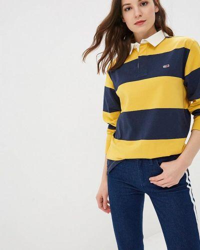 Желтое поло турецкое Tommy Jeans
