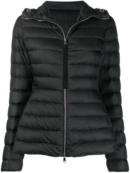 Куртка с капюшоном черная стеганая Moncler