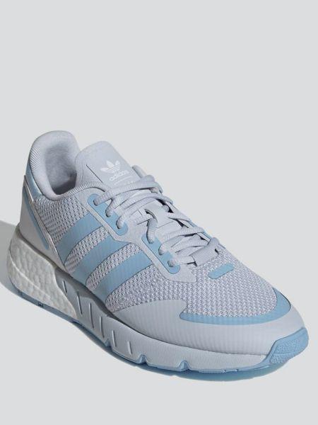 Кожаные кроссовки сетчатые на шнуровке Adidas