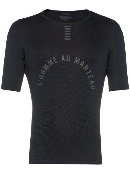 T-shirt z siateczką - czarna Rapha