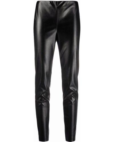 Черные кожаные леггинсы Ermanno Ermanno