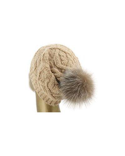 Бежевая шерстяная шапка Eleventy