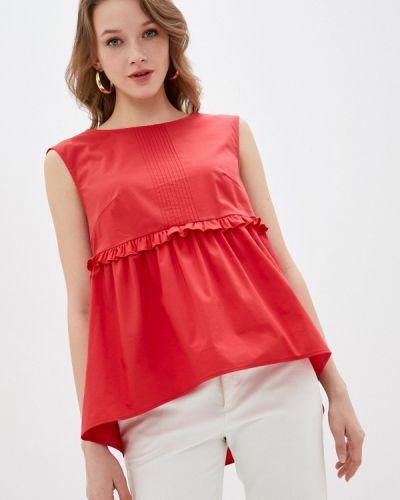 Красная блузка с оборками Blauz