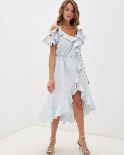 Платье с запахом - голубое Gk Moscow