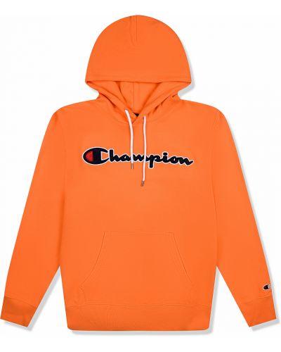 Оранжевая толстовка с карманами Champion