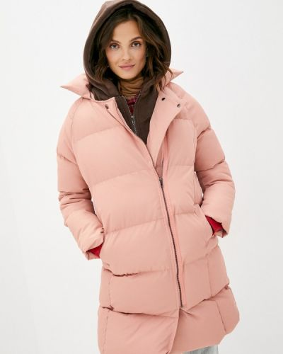 Теплая розовая зимняя куртка Liana