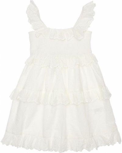 Biała koszula bawełniana koronkowa Zimmermann