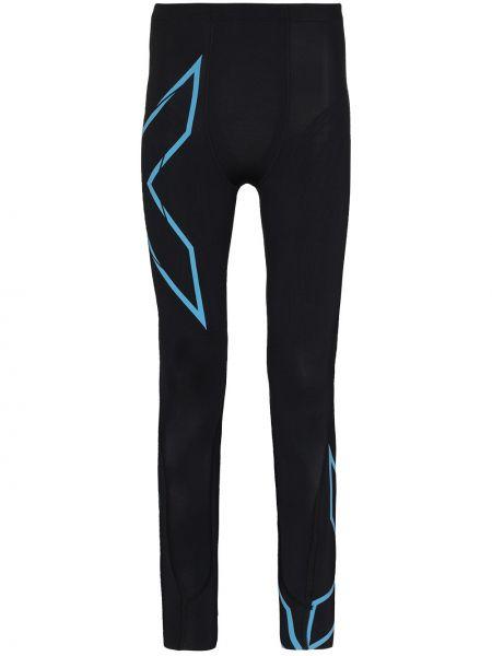 Czarne legginsy z nylonu 2xu
