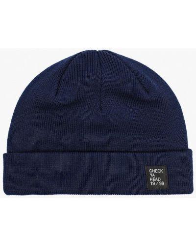 Синяя шапка осенняя Check Ya Head