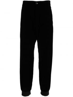 Czarne spodnie z paskiem Giorgio Armani