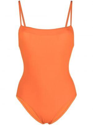 Слитный купальник с вырезом - оранжевый Eres
