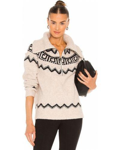 Бежевый свитер на молнии Saylor