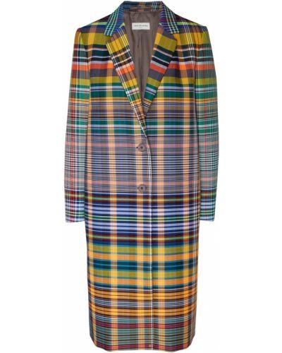 Пальто классическое в клетку с воротником Dries Van Noten