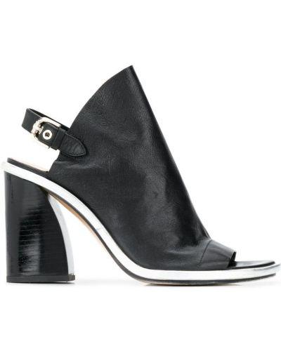 Босоножки на каблуке черные открытые Premiata