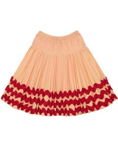 Różowy pofałdowany spódnica na gumce Tia Cibani
