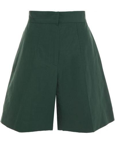 Зеленые льняные шорты с карманами Victoria Victoria Beckham