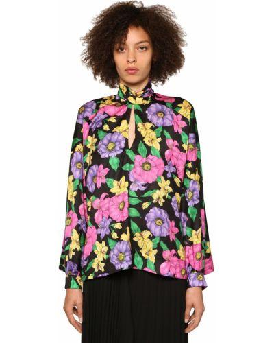 Блузка кружевная в полоску Balenciaga