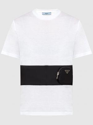 Белая футболка Prada