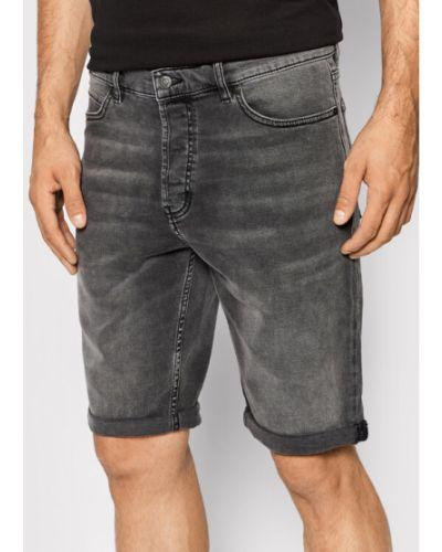 Szorty jeansowe - szare Hugo