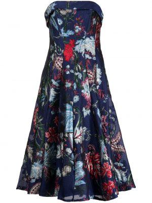 Прямое платье - синее Marchesa Notte