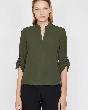 Блузка с длинным рукавом зеленый Koton