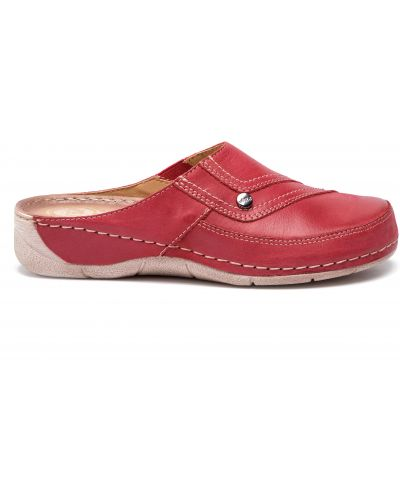 Шлепанцы на каблуке - красные Waldi