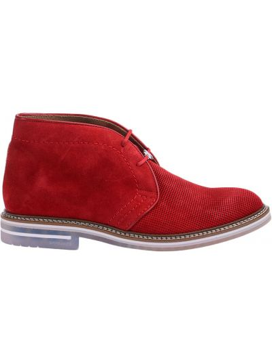 Кожаные ботинки - красные Brimarts