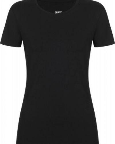 Приталенная хлопковая черная спортивная футболка Gsd
