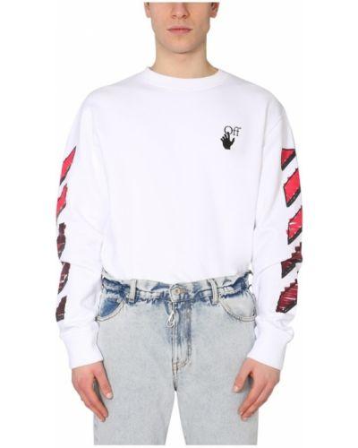 Prążkowana bluza bawełniana z printem Off-white