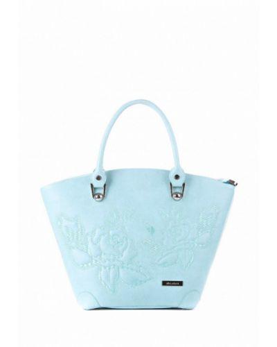 Бирюзовая кожаный сумка Alba Soboni