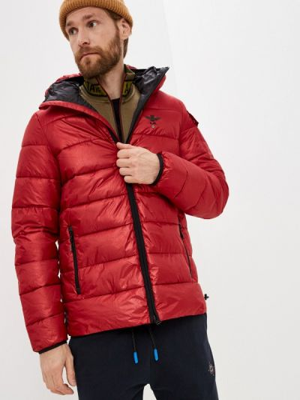 Утепленная куртка - красная Aeronautica Militare