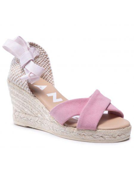 Sandały espadryle - różowe Manebi
