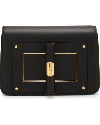 Кожаный сумка с ручками с логотипом Tom Ford