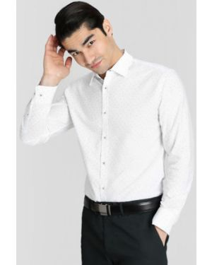 Рубашка с длинным рукавом оксфордская с принтом Ostin