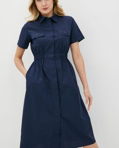 Синее платье-рубашка снежная королева