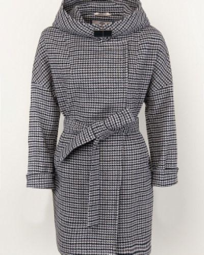 Серое шерстяное пальто с капюшоном Electrastyle