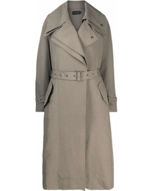 Нейлоновый пальто классическое с поясом Low Classic