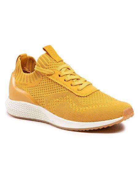 Półbuty casual - żółte Tamaris