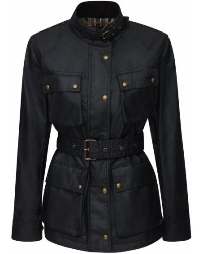 Ватная черная куртка с поясом Belstaff