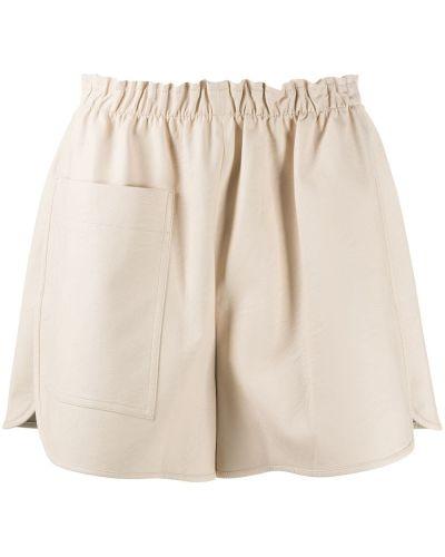 С завышенной талией хлопковые шорты с карманами Stella Mccartney