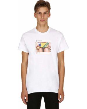 Biały t-shirt bawełniany Emanueleferraristudio