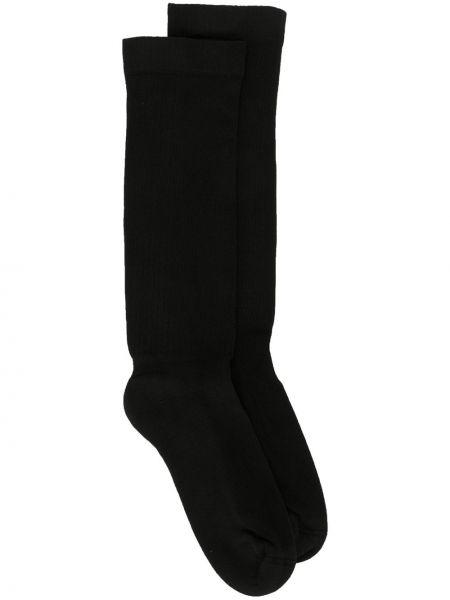 Черные хлопковые носки эластичные Rick Owens Drkshdw